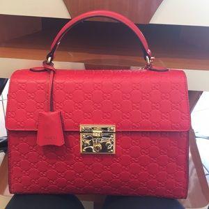 Red Gucci shoulder bag
